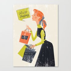Let's go shopping Canvas Print