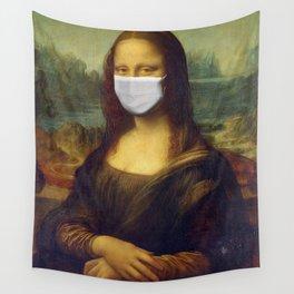 Masked Mona Lisa Wall Tapestry