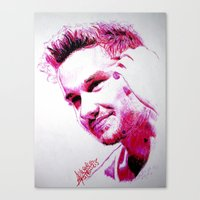 liam payne Canvas Prints featuring Liam Payne by Drawpassionn
