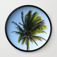 palm Wall Clocks featuring Palm by Percival