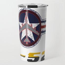 B-52 with Insignia  Travel Mug