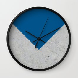 Blue & Grey Concrete Wall Clock