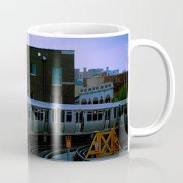On Time El Train Chicago Train Windy City Transit Red Line L Train Coffee Mug