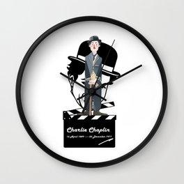 ***Ltd Edition: retro art charlie chaplin Wall Clock