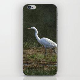 Egret Walking iPhone Skin