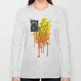 Liquid Autumn Leaves (Light) Long Sleeve T-shirt