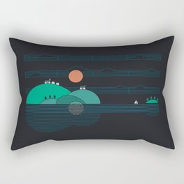 Island Folk Rectangular Pillow