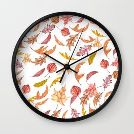 Falling Autumn Leaves Collage Wall Clock