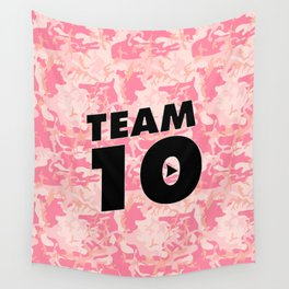 Team 10 Pink Camo Wall Tapestry