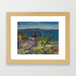"""George Wesley Bellows """"Dock Builders"""" Framed Art Print"""