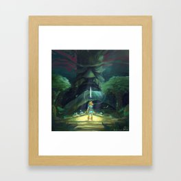 Breath of the wild : Link's Fate Framed Art Print