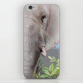 Foraging Elephant iPhone Skin