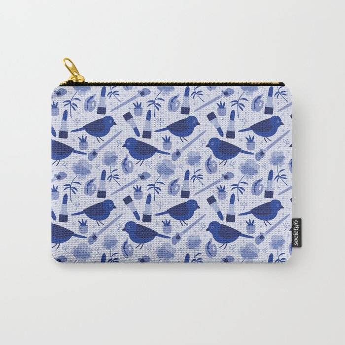 Birds in Winter Carry-All Pouch