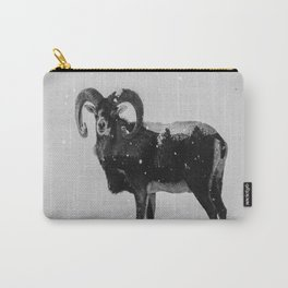 Corsican Sheep (B&W) Carry-All Pouch