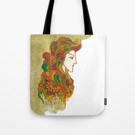 Golden Portrait Tote Bag