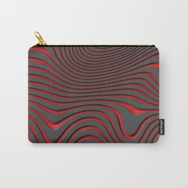 Organic Abstract 02 RED Carry-All Pouch