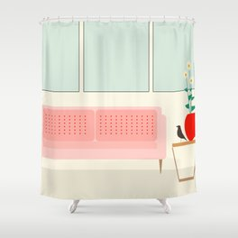 Inside mid century modern 312 Shower Curtain