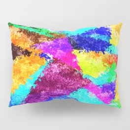 Formes géométriques multicolore Pillow Sham