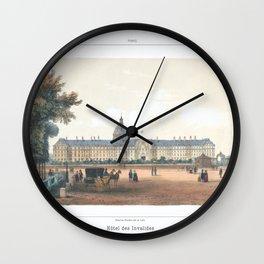 Paris art print Paris Decor office decoration vintage decor HOTEL DES INVALIDES of Paris Wall Clock