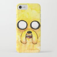 jake iPhone & iPod Cases featuring Jake Face by Olechka