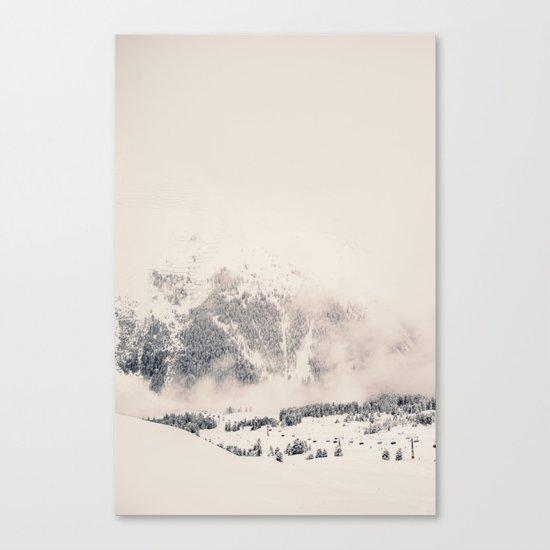 White Winter Mountains In Snow Canvas Print