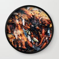 chinese Wall Clocks featuring Chinese Koi by Alexander Jedermann