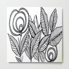 Flower Bush Abstract Art Metal Print