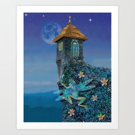 Pilgrimage to the Temple of the Snake Art Print