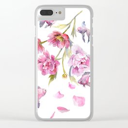 Peony Fish Success Story Clear iPhone Case