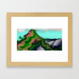 Smudged Colours 2 Framed Art Print