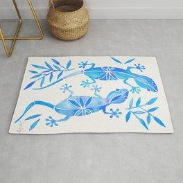 Geckos – Blue Palette Rug