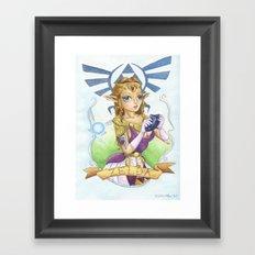 Tattooed Zelda Framed Art Print