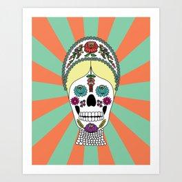Kalocsai Skull Art Print