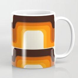 Mid-Century Modern Meets 1970s Orange Coffee Mug