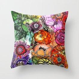 Razzle D Floral Throw Pillow
