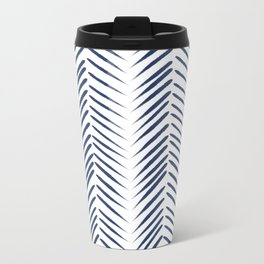 Blue chevron Travel Mug