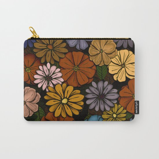 Abstract #418 Flower Power #6 Carry-All Pouch