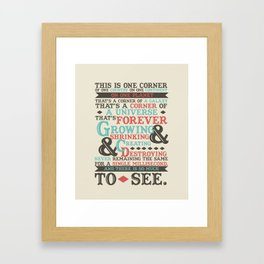 There Is So Much To See Framed Art Print