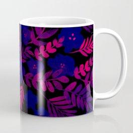 Neon Floral Print Coffee Mug