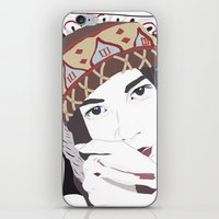 headdress iPhone & iPod Skins featuring Headdress by Footeprints