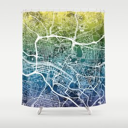 Glasgow Scotland Street Map Shower Curtain