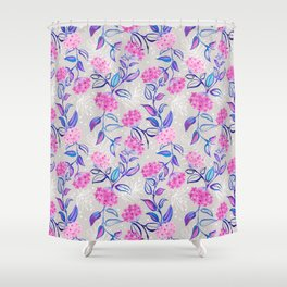 Watercolor Blooming Wax Plant Shower Curtain