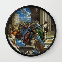 El Greco Christ cleansing the Temple Wall Clock