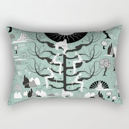 The six princesses (Celadon) Rectangular Pillow