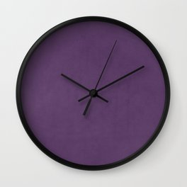 Elegant lilac lavender faux leather texture Wall Clock
