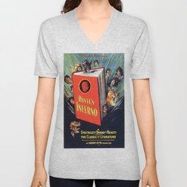 Vintage poster - Dante's Inferno Unisex V-Neck