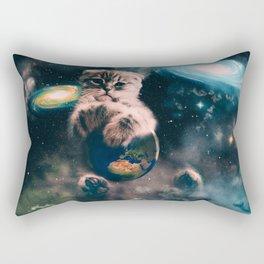 Space Puss saves the World Rectangular Pillow