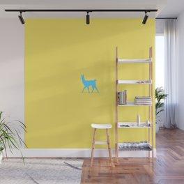 Drama Llama Yellow & Blue Wall Mural