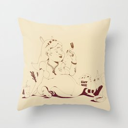 Alice stuck in the wonderland ! Throw Pillow