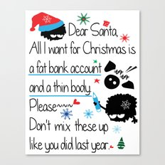 Dear Santa Canvas Print